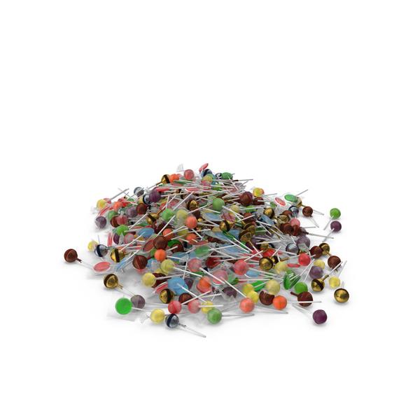 Lollipop: Large Pile of Mixed Lollipops PNG & PSD Images