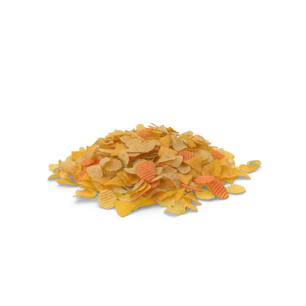 Potato: Large Pile of Mixed Salty Chips Snacks PNG & PSD Images