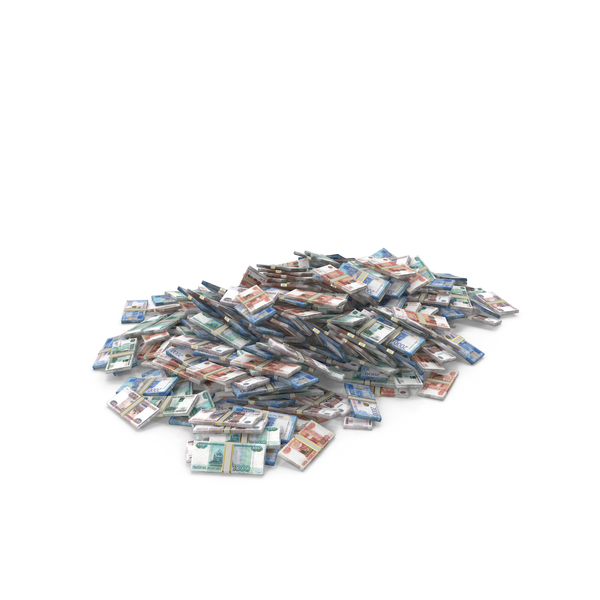 Banknote: Large Pile of Russian Ruble Stacks PNG & PSD Images