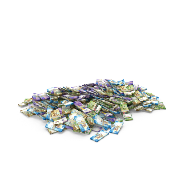 Banknote: Large Pile of Swiss Franc Stacks PNG & PSD Images