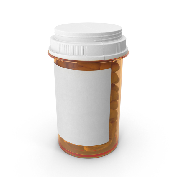 Large Prescription Bottle PNG & PSD Images