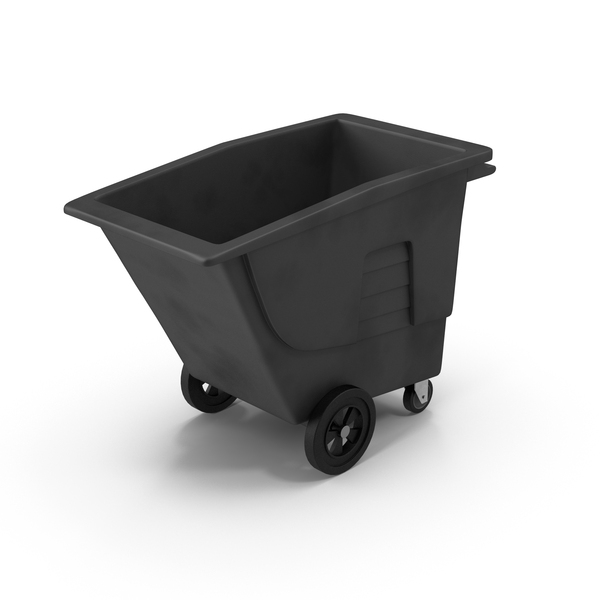 Large Rolling Garbage Can Object