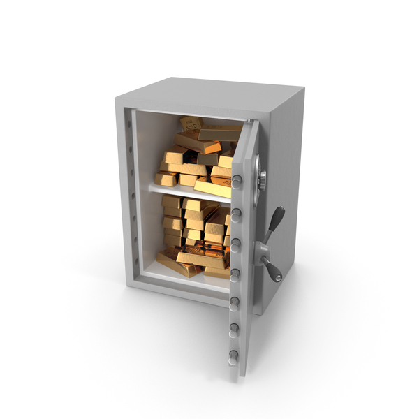 Bank Vault: Large Safe with Gold Bars PNG & PSD Images