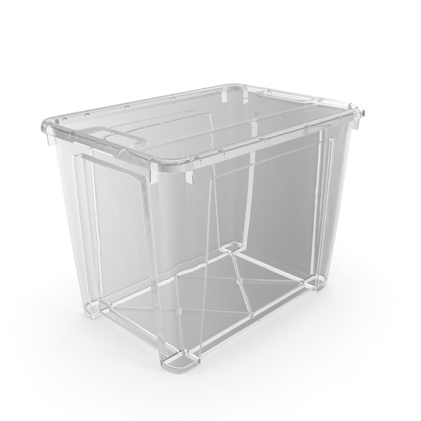 Large Transparent Plastic Container with Lid PNG & PSD Images