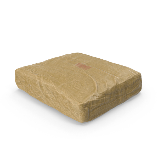 Heroin: Large Wrapped Drug Brick PNG & PSD Images