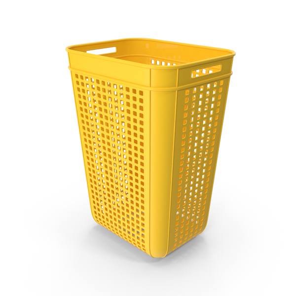 Large Yellow Plastic Crate Object