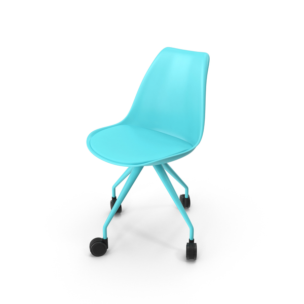 Lars Office Chair Blue PNG & PSD Images