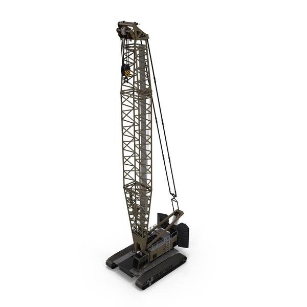 Lattice Boom Crawler Crane PNG & PSD Images