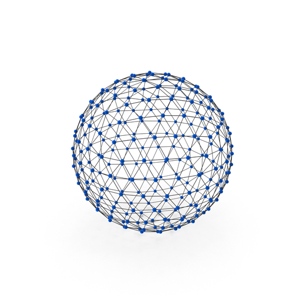 Lattice Sphere Structure PNG & PSD Images