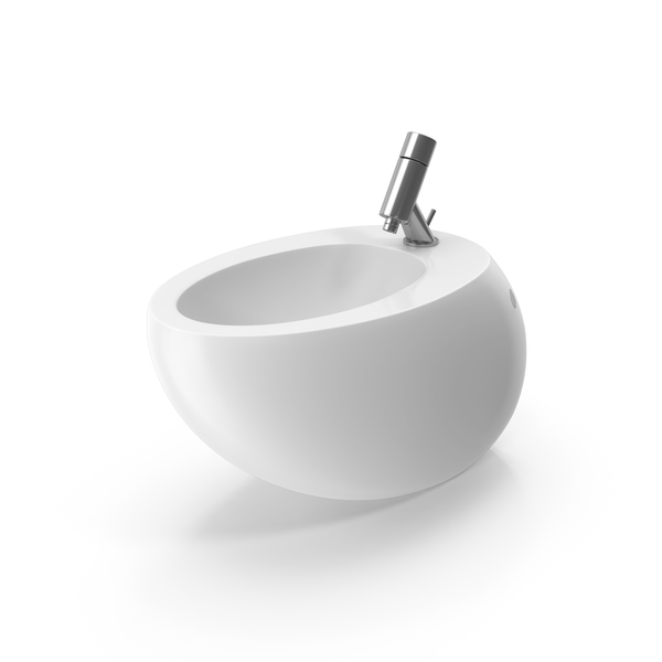 Laufen Il Bagno Alessi One Wall-Mounted Bidet PNG & PSD Images