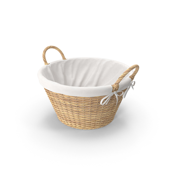 Laundry Basket With Liner PNG & PSD Images