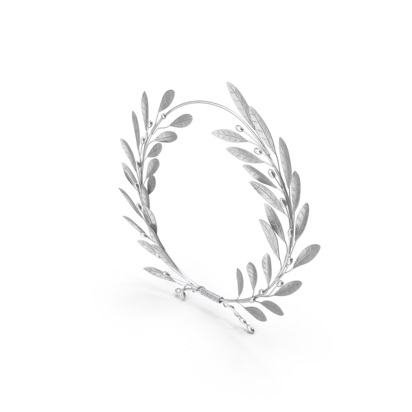 Laurel Wreath Silver PNG & PSD Images