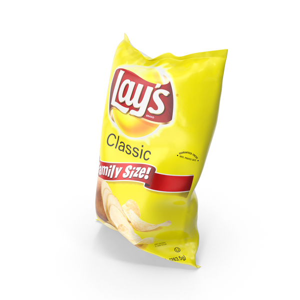 Chip Bag: Lays Classic Potato Chips PNG & PSD Images
