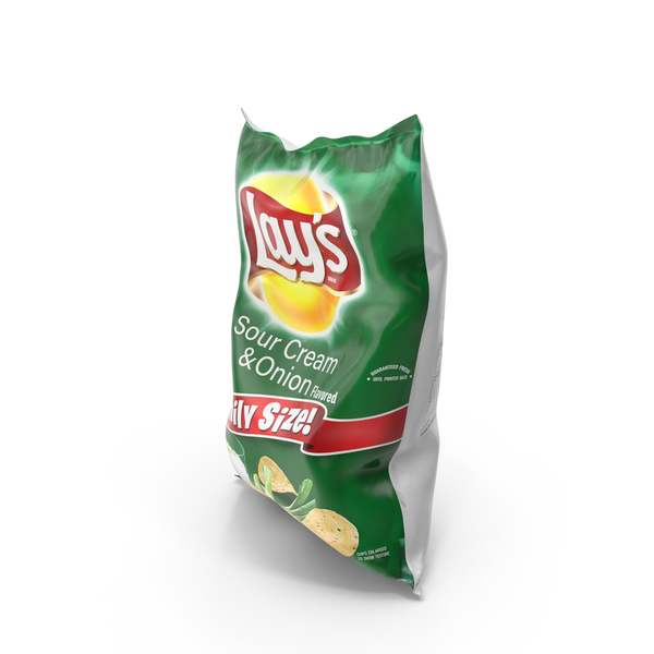 Lays Sour Cream & Onion Potato Chips PNG & PSD Images
