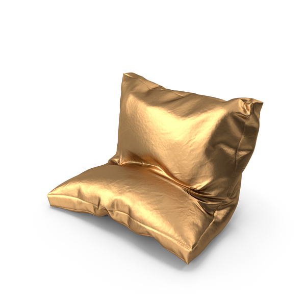 Bed: Leaning Pillow Golden PNG & PSD Images