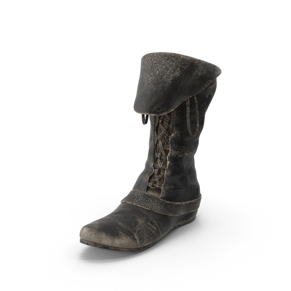 Boots: Leather Boot Left Object
