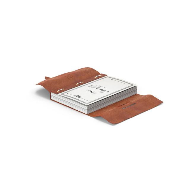 Notebook: Leather Bound Journal PNG & PSD Images