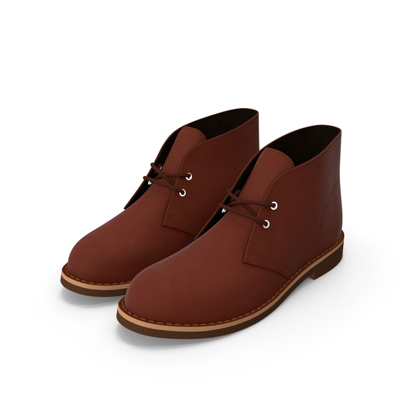 Leather Chukka Boots Brown PNG & PSD Images