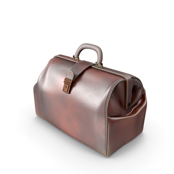Medical Equipment: Leather Doctor Bag PNG & PSD Images