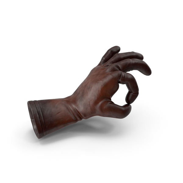 Leather Glove OK Gesture PNG & PSD Images