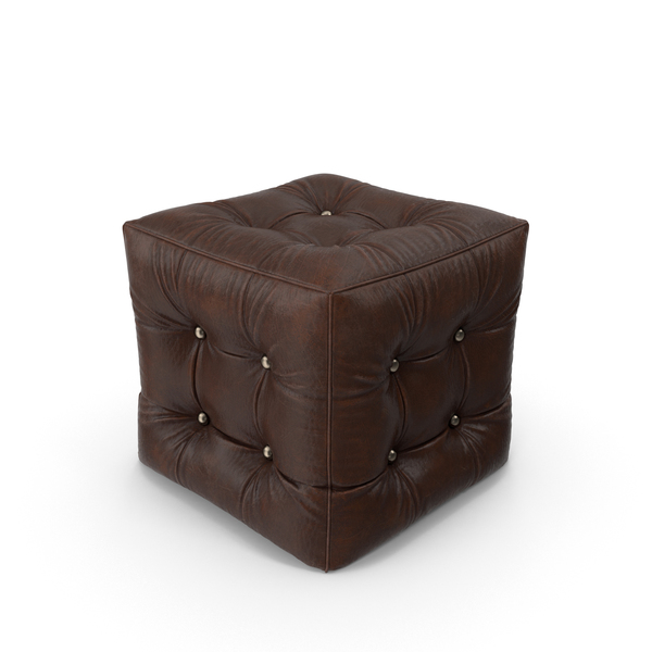 Leather Pouf Object