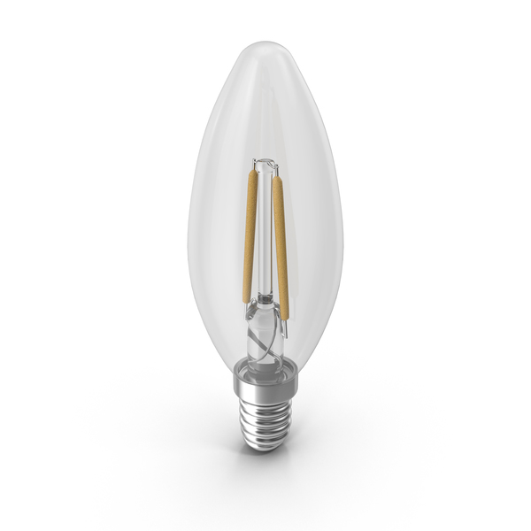 LED Candle Bulb Object