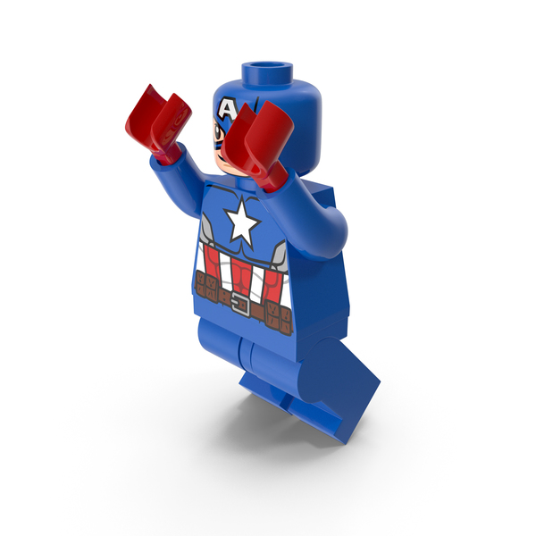 People: Lego Captain America Jumping PNG & PSD Images