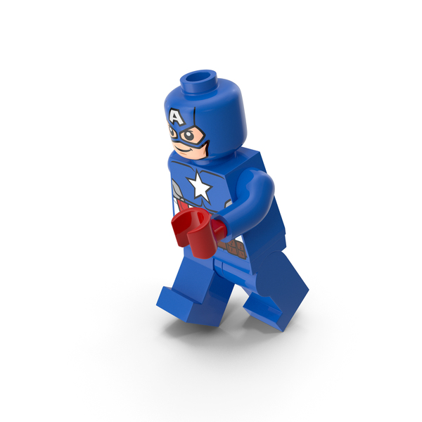 Lego Captain America Running PNG & PSD Images