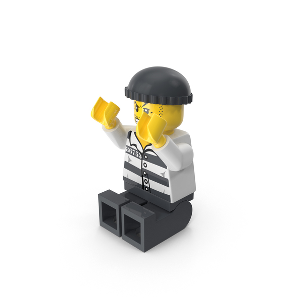 People: Lego Criminal Sitting PNG & PSD Images
