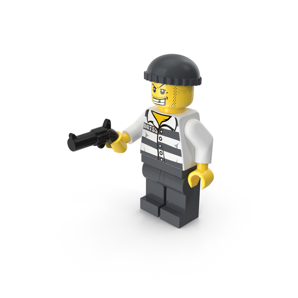 Lego Criminal With Gun PNG & PSD Images