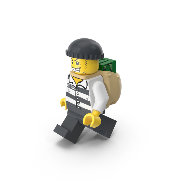 People: Lego Criminal with Money Bag PNG & PSD Images