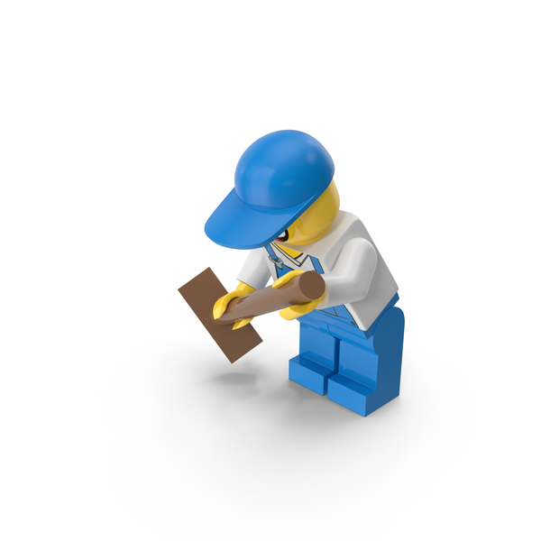 Lego Janitor Sweeping Object