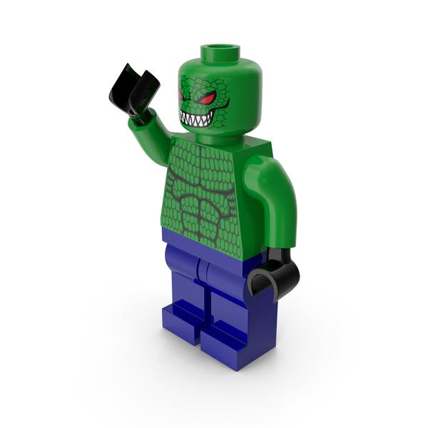 Toys: Lego Killer Croc Pose PNG & PSD Images