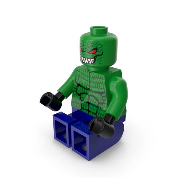Toys: Lego Killer Croc Sitting PNG & PSD Images