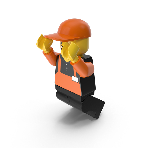 Lego Man Cashier Jumping PNG & PSD Images