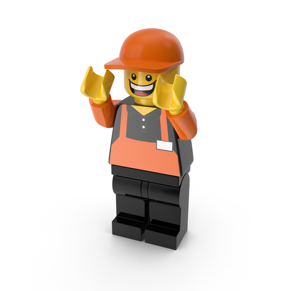 Lego Man Cashier PNG & PSD Images