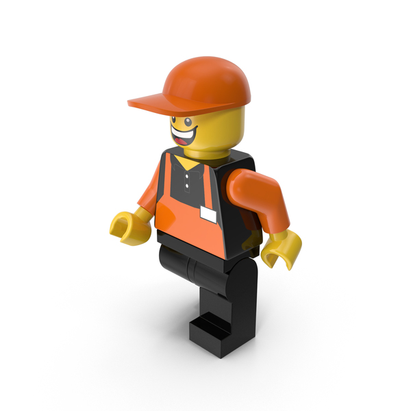 Lego Man Cashier Walking PNG & PSD Images