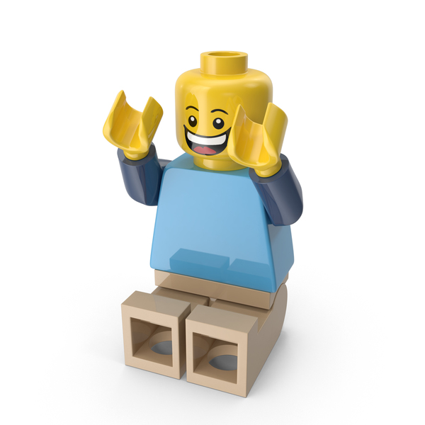 Lego Man Sitting Arms up PNG & PSD Images