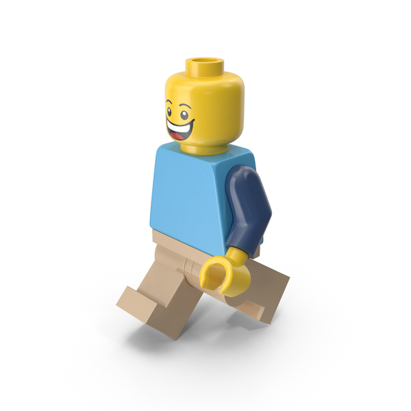 Lego Man Walking PNG & PSD Images
