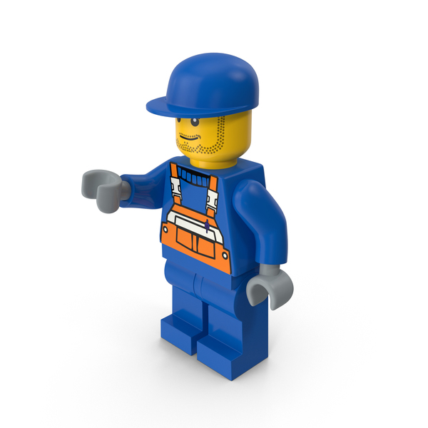 Lego Man Worker PNG & PSD Images