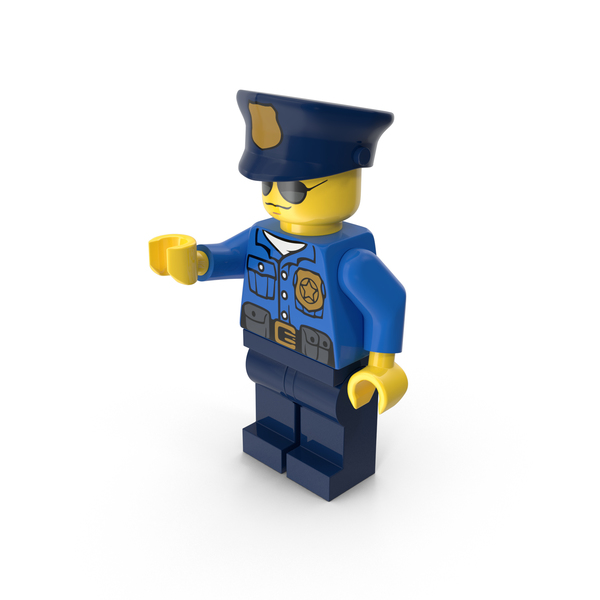 Lego Police Officer Object