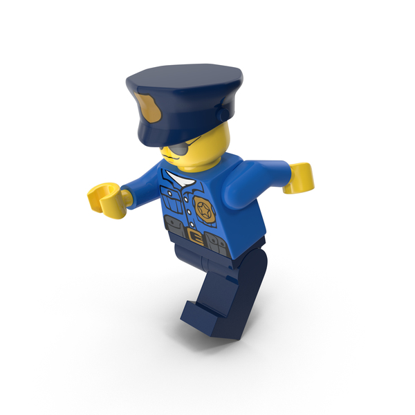 Lego Police Officer Running PNG & PSD Images