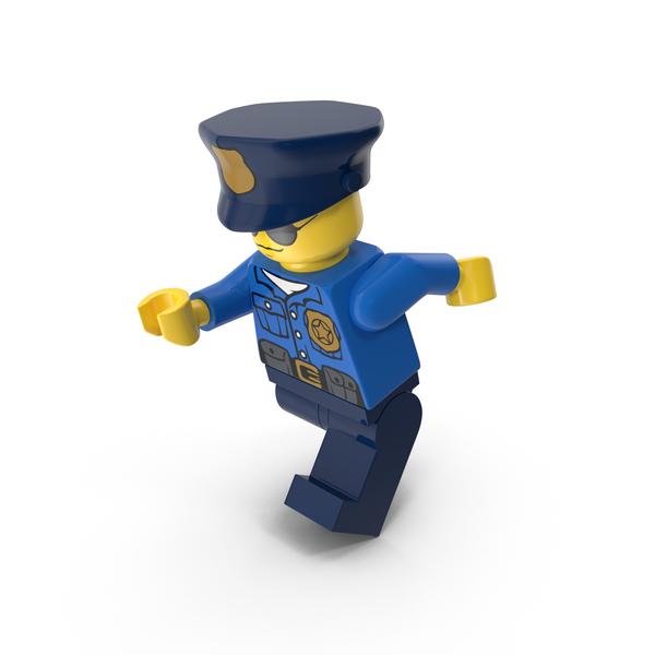 Lego Police Officer Running Object