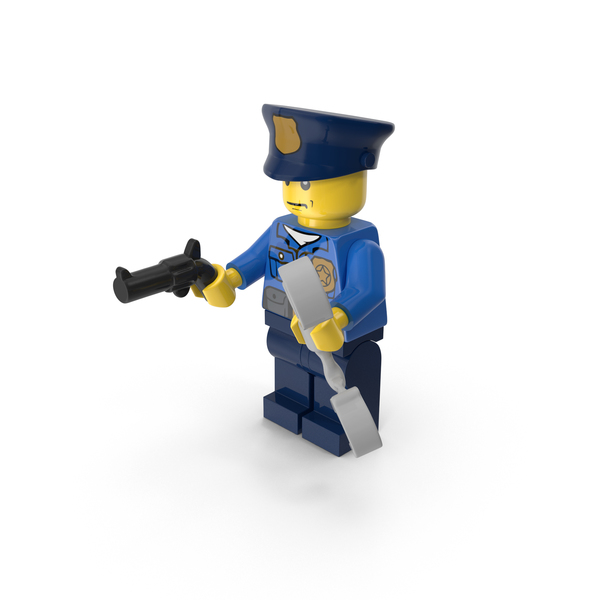 Lego Police Officer With Gun And Handcuffs PNG & PSD Images