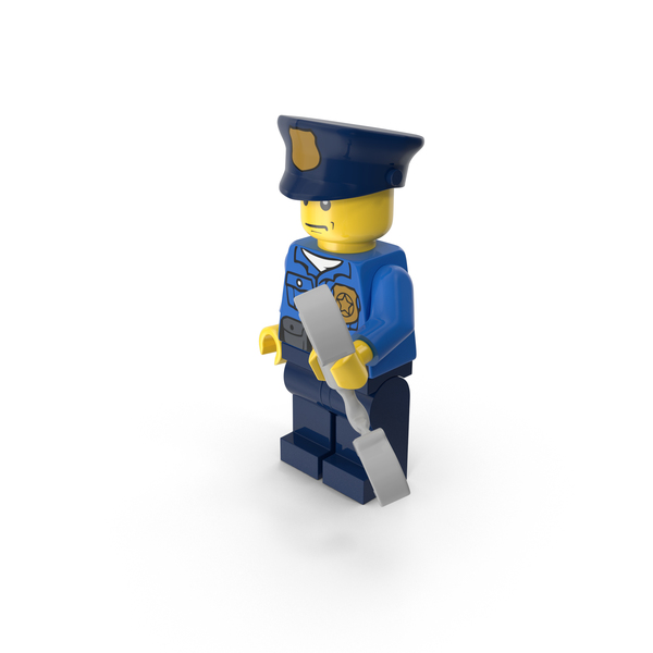 Lego Police Officer With Handcuffs Object
