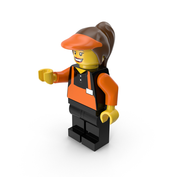People: Lego Woman Cashier PNG & PSD Images