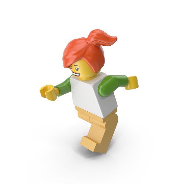 Lego Woman Running PNG & PSD Images
