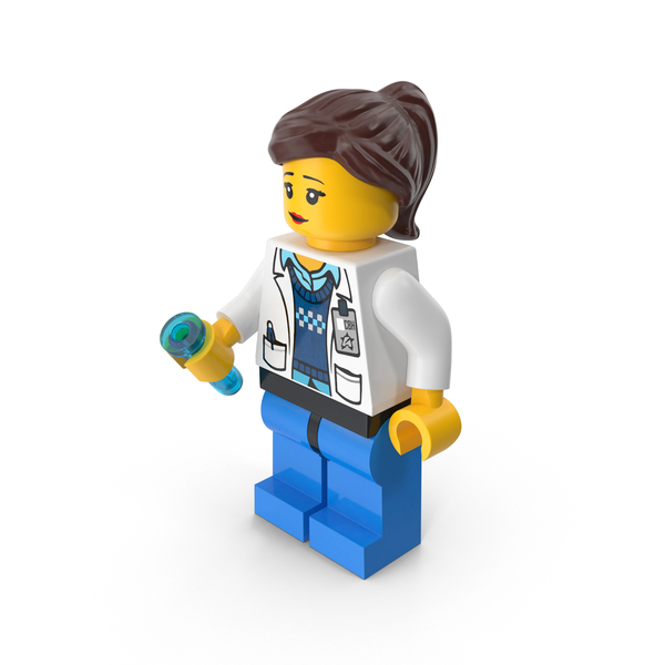 Lego Woman Scientist PNG & PSD Images