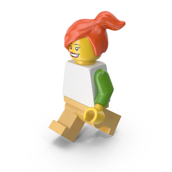 Lego Woman Walking PNG & PSD Images