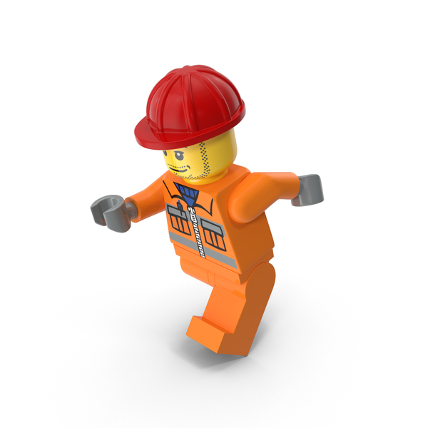 Lego Worker Running PNG & PSD Images